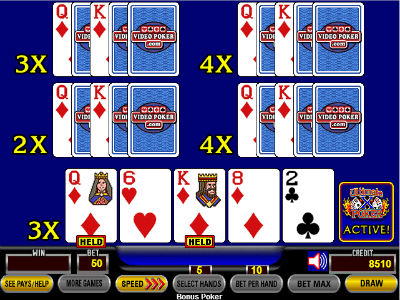 With an aggregate multiplier of 16x on the next hand, the player picked to be a winner would stay on the machine for one more hand in our simulation.